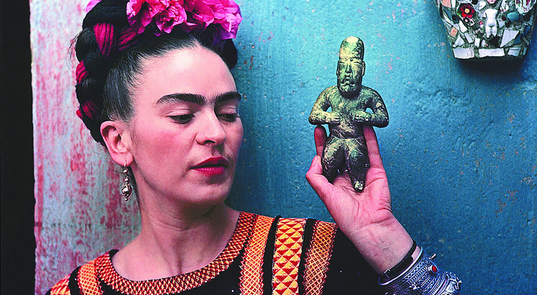Frida Kahlo, photographed in Coyoacán (Mexico)